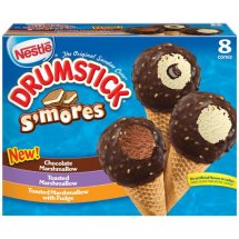 Nestle Drumstick S'Mores Ice Cream Cones Variety Pack, 8 ct, 36.8 oz