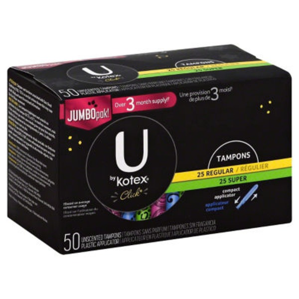 U by Kotex Click Regular/Super  Tampons
