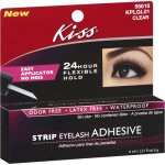 Kiss Clear Strip Eyelash Adhesive, 0.21 Fl Oz