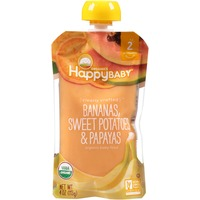 Happy Baby/Family Bananas, Sweet Potatoes & Papayas Organic Baby Food