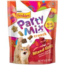 Purina Friskies Party Mix Crunch Mixed Grill Cat Treats 6 oz. Pouch