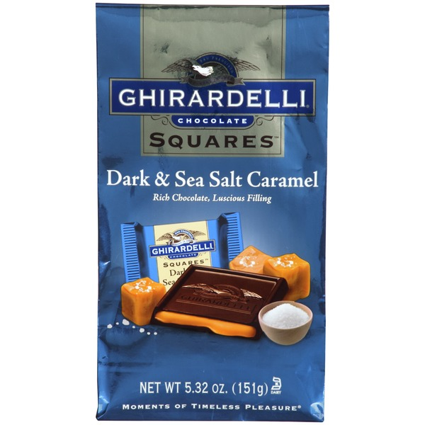 Ghirardelli Chocolate Squares Dark & Sea Salt Caramel Chocolate