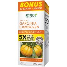 Nature's Science 1005 Pure Garcinia Camobia Caplets, 100 Ct
