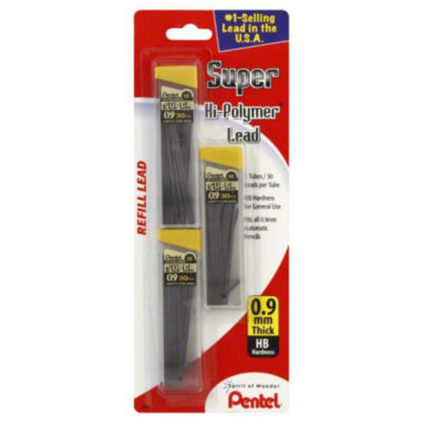 Pentel Super Hi-Polymer Thick (0.9 mm) Refill Lead