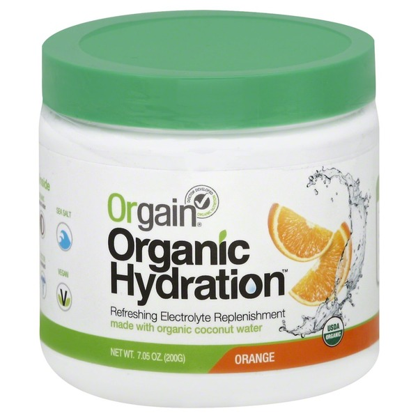 Orgain Organic Hydration Orange Refreshing Electrolyte Replenishment