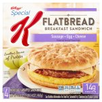 Kellogg's Special K Sausage Egg Cheese Flatbread Breakfast Sandwich, 4 count, 16.4 oz