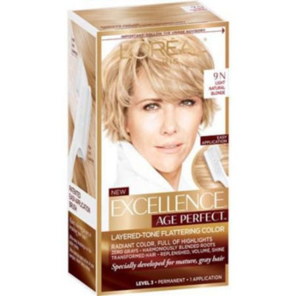Excellence Age Perfect Layered-Tone Flattering Color 9N Light Natural Blonde Hair Color