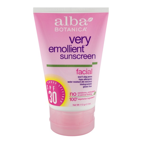 Alba Botanica Very Emollient Sunscreen Facial SPF 30