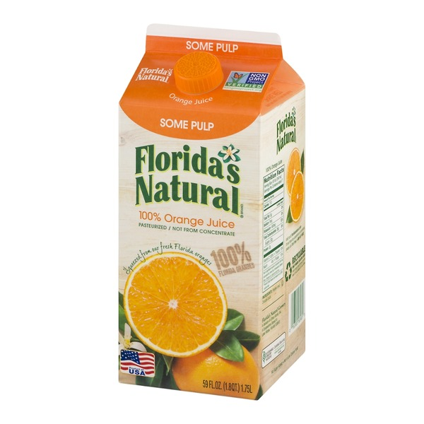 Florida's Natural 100% Premium Florida Orange Juice Some Pulp