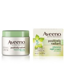 Aveeno Positively Radiant Intensive Night Cream With Vitamin B3, 1.7 Oz