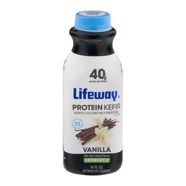 Lifeway Protein Kefir Nonfat Cultured Milk Smoothie Vanilla Probiotic