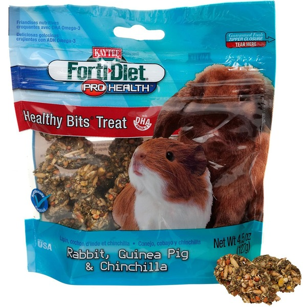 Kaytee Forti Diet Pro Health Healthy Bits Treat Rabbit, Guinea Pig & Chinchilla Food