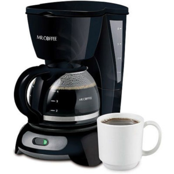 Mr. Coffee 4 Cup Black Coffeemaker