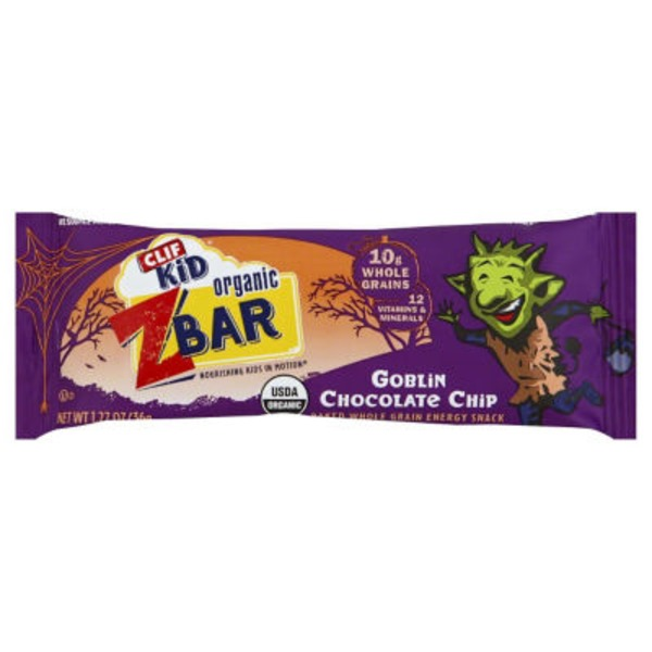 Clif Kid® Organic ZBar Goblin Chocolate Chip Energy Snack