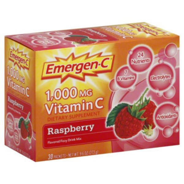 Emergen-C Raspberry Vitamin C 1000mg Drink Mix Dietary Supplement