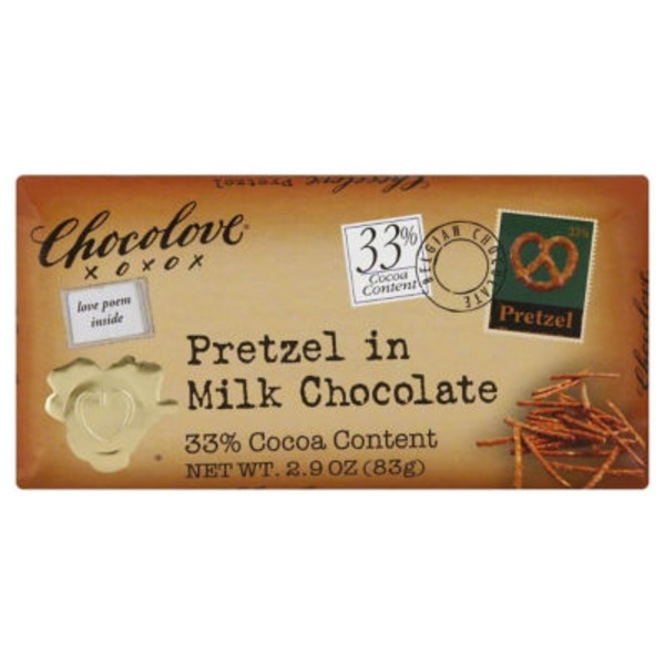 Chocolove Pretzel in Milk Chocolate Bar
