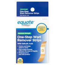 Equate Maximum Strength One Step Wart Remover Strips, 14 Ct