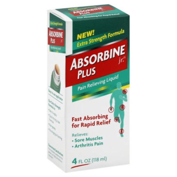 Absorbine Jr. Plus Pain Relieving Liquid Extra Strength