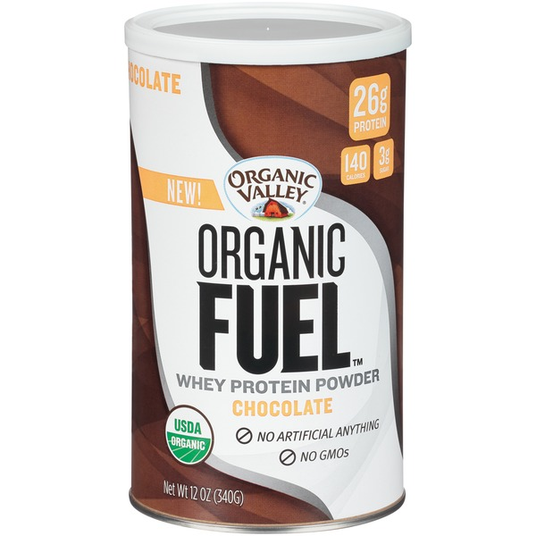 Organic Valley Organic Fuel Chocolate Whey Protein Powder