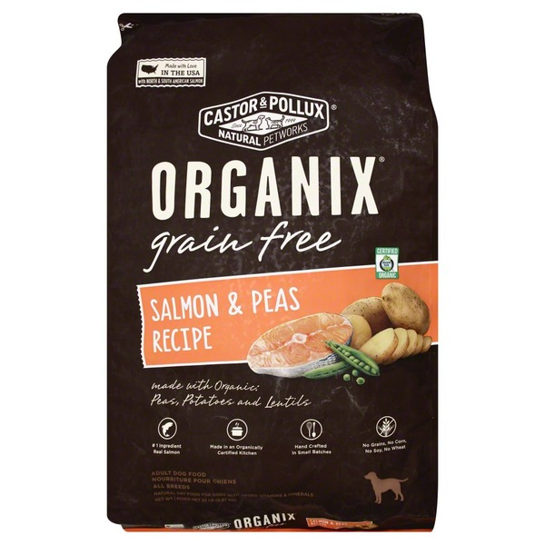 Organix Dog Food, Grain Free, Salmon & Peas Recipe, Adult