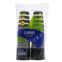 Dixie To Go Perfectouch Cups & Lids, 12 Oz, 30 Count
