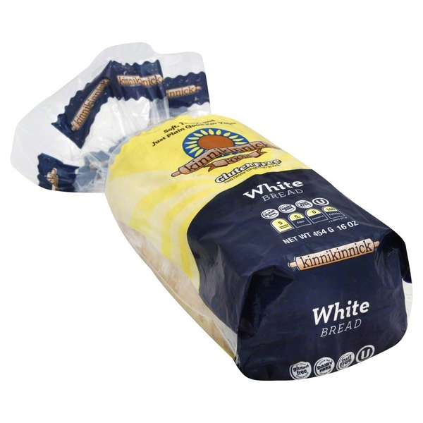 Kinnikinnick Foods Bread, White, Gluten Free, Bag