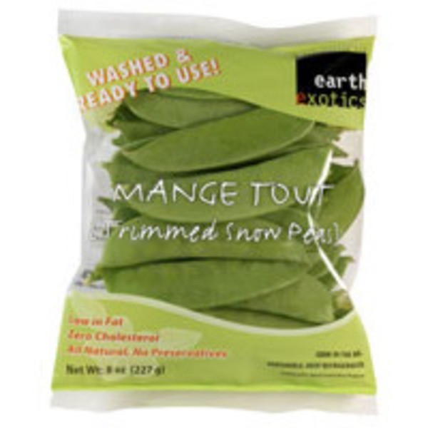 Earth Exotics Trimmed Snow Peas