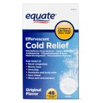 Equate Cold Relief Aspirin Effervescent Tablets, 325 mg, 48 Ct