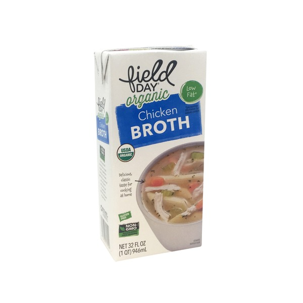 Field Day Free Range Low Sodium Organic Chicken Broth