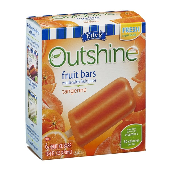 Edy's Tangerine Fruit Bars 6 ct