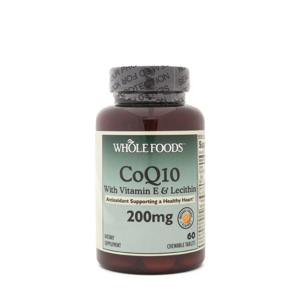 Whole Foods Market CoQ10 with Vitamin E & Lecithin 200mg Tablets