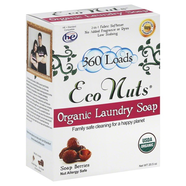 Eco Nuts Organic Laundry Soap 2 In 1 Fabric Softener No Added Fragrance