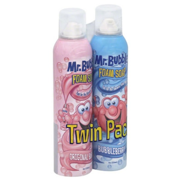 Mr. Bubble Foam Soap Twin Pack Original Bubble and Bubbleberry - 2 CT