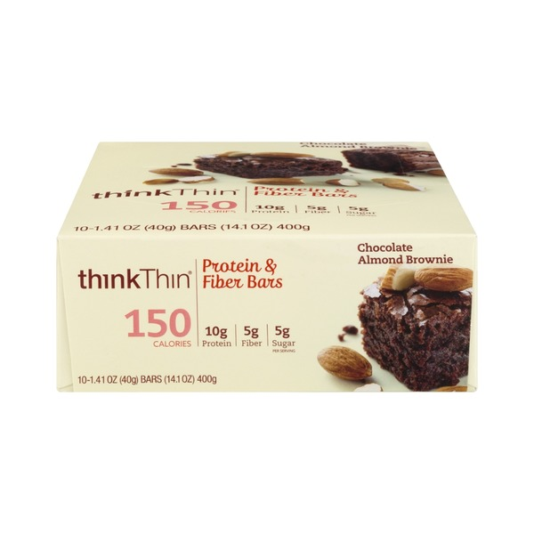 thinkThin Protein & Fiber Bars Chocolate Almond Brownie - 10 CT
