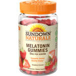 Sundown Naturals Melatonin Dietary Supplement Strawberry Flavor Gluten-Free Gummies