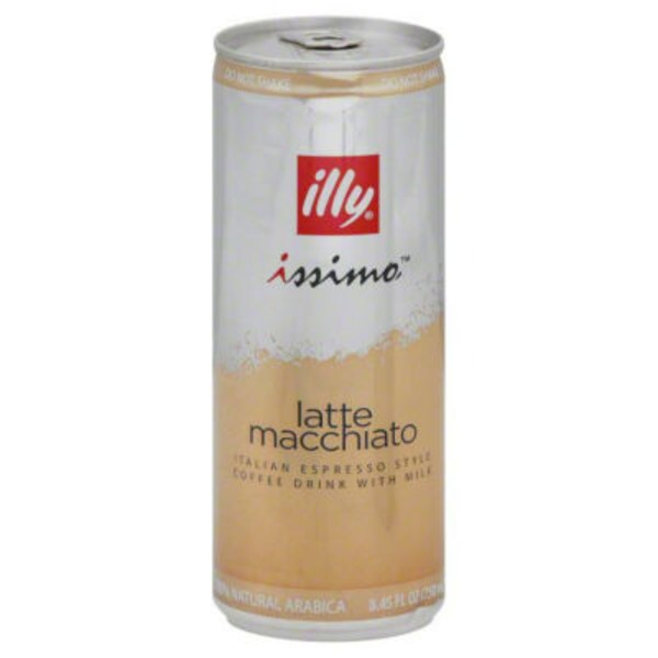 Illy Issimo Latte Macchiato with Milk Espresso Style Iced Coffee Drink