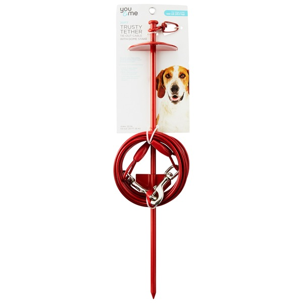 You & Me Trusty Tether Tie-Out Cable With Dome Stake