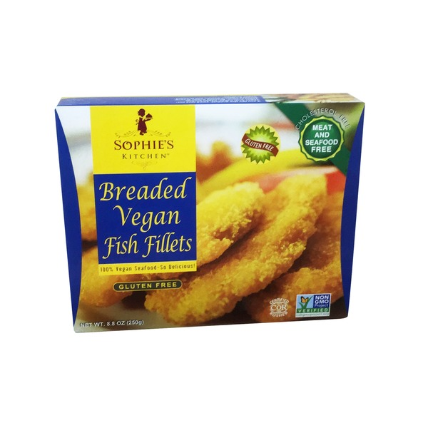 Sophie's Kitchen Fish Fillets, Vegan, Breaded