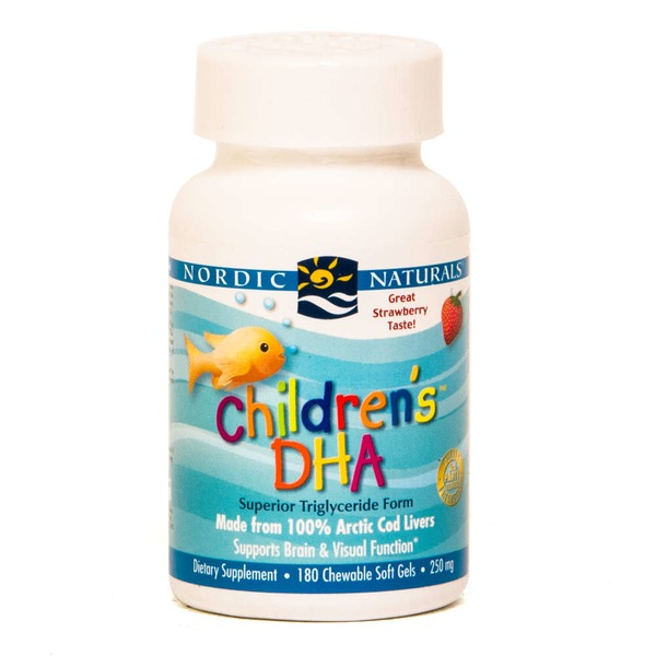 Nordic Naturals DHA, Children's, Chewable Soft Gels, Strawberry