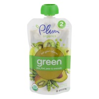 Plum Organics Stage 2 Green Pea Kiwi Pear & Avocado Organic Baby Food