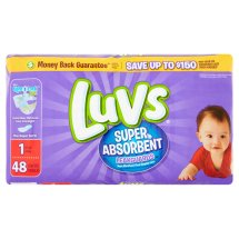 Luvs Super Absorbent Leakguards Diapers, Size 1, 48 Diapers