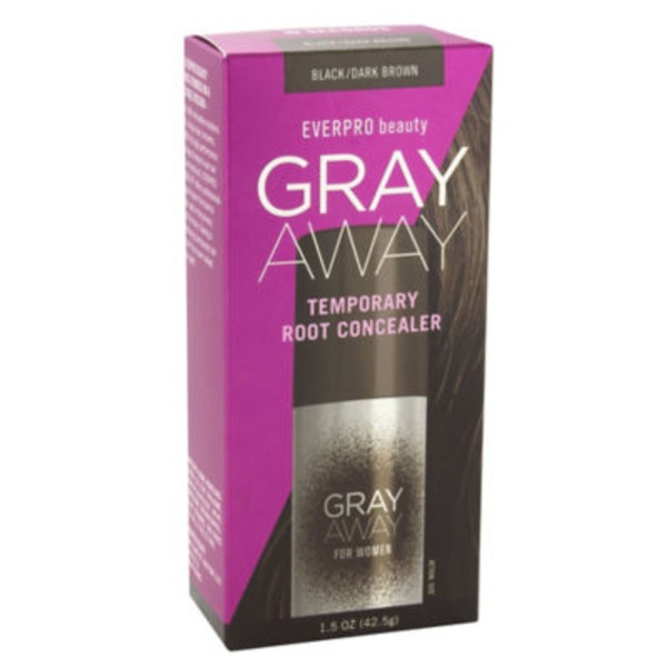 Gray Away Root Concealer, Temporary, Black/Dark Brown, for Women