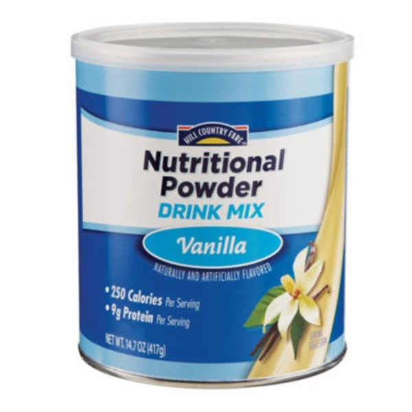 Hill Country Fare Vanilla Nutritional Powder Drink Mix