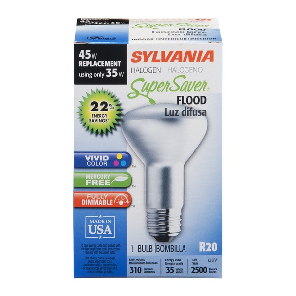 Sylvania Super Saver Bulb Flood Halogen - 35 Watt