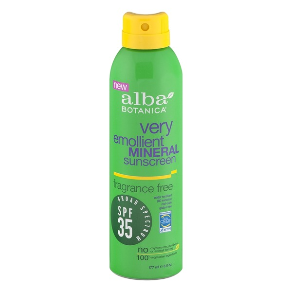 Alba Botanica Very Emollient Mineral Sunscreen SPF 35 Fragance Free