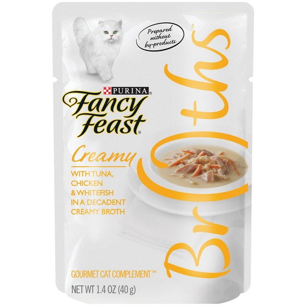 Fancy Feast Broths Creamy with Tuna Chicken & Whitefish Cat Food