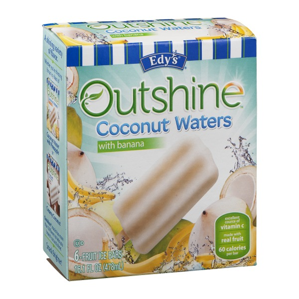 Edy's Outshine Coconut Waters With Banana 6 Ct