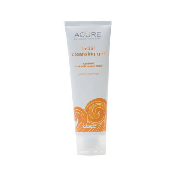 Acure Facial Cleansing Gel with  Superfruit + Chlorella Growth Factor