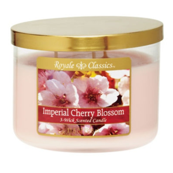 Royale Classics Imperial Cherry Blossom 3-Wick Scented Candle