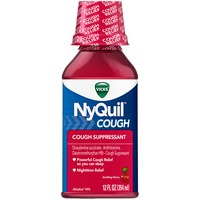 Vicks NyQuil Cough Nighttime Relief Soothing Cherry Liquid Respiratory Care